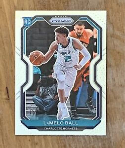 2020-21 Panini Prizm Rookie Lamelo Ball Base RC Hornets #278 GRADE MINT CENTERED