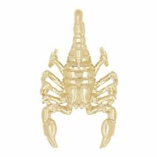 14k Yellow Gold Detailed Scorpion Charm Pendant 5.5 grams