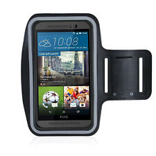 HTC One M9 Black Sports Fitness Running Armband Tie Adjustable