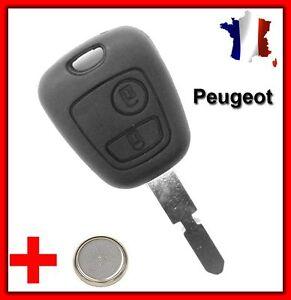 Coque Télécommande Plip Clé Pour Peugeot 406/406 BREAK/406 COUPE/607/806 + Pile