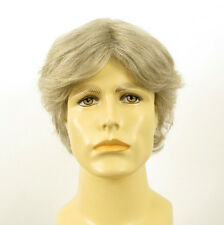 Perruque homme 100% cheveux naturel blanc méché gris ref LUCIEN 51