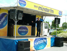Mobile outdoor stage hire with generator, pa, lighting, all inclusive £880 a day