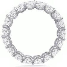 3.50 ct Asscher cut Diamond Ring 18k Gold Eternity Band VS Size 4 0.17 ct each