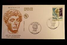 MONACO PREMIER JOUR FDC YVERT  1776        ART CONTEMPORAIN        4F      1991