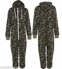 Unisex Mens Army Military Print Zip up Onesie1 All in One Hooded Jumpsuit S-xl XL