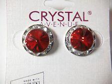 Red Crystal Earrings dance moms Ballroom competition perfomance swarovski kids