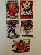 LOT OF 5 AUTOGRAPHED Ottawa Senators Signed NHL HOCKEY CARDS UPPER DECK Etc.