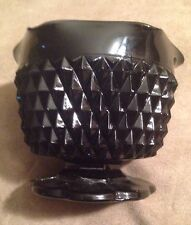 Indiana Black Glass Tiara Candle Holder