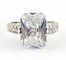 Gorgeous Woman Princess Cut 3.25ct White Sapphire 925 Silver Ring Size 6