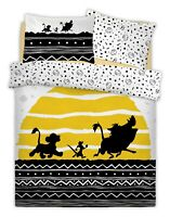 DISNEY LION KING TRIBAL SUNRISE Polycotton Reversible Duvet Cover Set