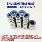 TAMIYA - 30 Piece Rubber Seal Bearing Kit 1/14 Semi Grand Hauler King Hauler