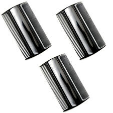 """Favorict (3 Pack) 3.5"""" Pocket Hair Comb Beard & Mustache 2 Sides Combs for Men's"""