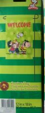 "Snoopy & Woodstock Gang ""Welcome"" Spring/Summer Mini Garden Flag 12 x 18 Nip-"
