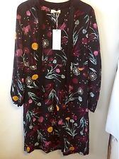 Per Una Long Sleeve Floral Print Dress Size: 14