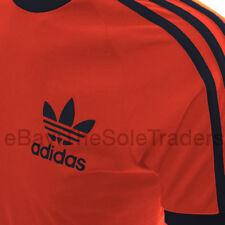 Mens Adidas Originals California Sport T shirt Black Red White All Sizes Retro