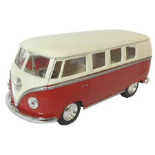 Kinsmart 1962 Volkswagen Classical Bus Diecast Car 1:32 KT5377D Cream Top Red