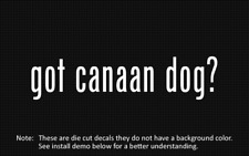 (2x) got canaan dog? Sticker Die Cut Decal vinyl