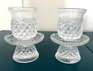 PartyLite Candle Holders Set 2 Williamsburg Small Hurricane Style 4 Pieces