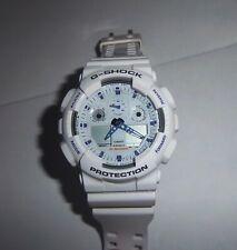 Casio G-SHOCK White on White 5081 Watch GA-100A WR20BAR Antimagnetic