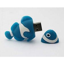 Blue Cartoon Tropical Clown Fish model 8GB USB 2.0 Memory Stick Flash pen Drive
