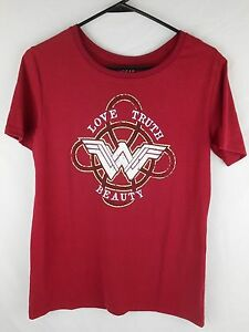 Wonder Woman Medium M 7-9 Short Sleeve Navy Heather Blue D.C. Comics NWT