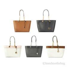 Michael Kors Shania Signature Leather Large East West Chain Tote Handbag Bag