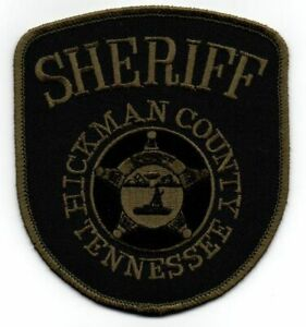 TENNESSEE TN HICKMAN COUNTY SHERIFF SUBDUED NEW SHOULDER PATCH POLICE