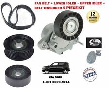 FOR KIA SOUL 1.6 DT CRDI 2009-2014 FAN BELT +2 IDLER BEARING + TENSIONER 4PC KIT