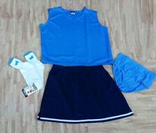 "New Adult Cheerleader Uniform Top Skirt Brief 42-44/32-35"" UNC Tar Heels Cosplay"