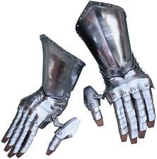 Get Dressed For Battle Articulated Steel Gauntlets 16 gauge steel construction.