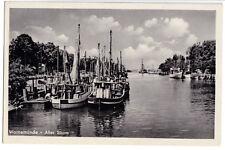 AK, Rostock Warnemünde, Alter Strom, Fischerei-Boote, 1954