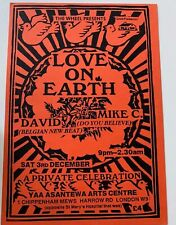 More details for love on earth old rave flyer yaa asantewa arts centre mike c belgian new beat