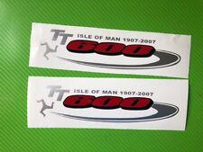 GSXR 600 TT logo Badge Track bike or road fairing Decals Stickers PAIR #207TT