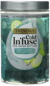 Twinings Cold InFuse Apple Cucumber  Mint & Green Tea 12 Infusers