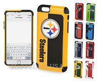 Official NFL Dual Layer Shock Proof TPU Cover Case for Apple iPhone 6 6S 7 Plus