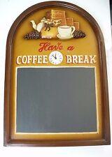 Have A Coffee Break Chalkboard Clock Sign