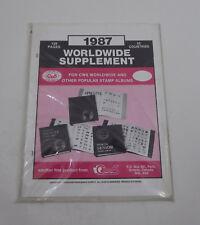 CWS Worldwide 1987 Supplement Stamp Album Pages
