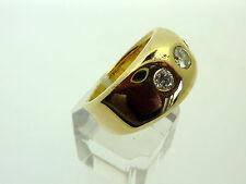 # 013 # SCHMUCK-RING HERRENRING 585 GOLD 14K MIT BRILLIANTEN ca. 1,08 ct.   U 67