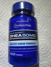 Puritan's Pride DHEA 50mg Suplemento Dietario (Pack de 100 Comprimidos)