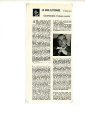 Documents des années 50 de Gérard Caillet sur Thomas Mann / 16x34cm / FN39