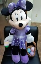 """Disney 27"""" Minnie Mouse Easter Spring Standing Alone Plush Doll Jumbo EXC RARE"""