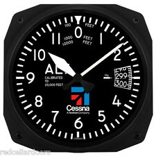 "New Trintec 10"" Cessna  Altimeter Style Aviation Instrument style Clock Ces-3060"