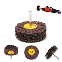 80mm Emery Cloth Wire Abrasive Flap Wheel Mop Sandpaper Polishing Rotary Tool