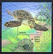 Animaux Tortue de mer Tanzanie (46) bloc oblitéré