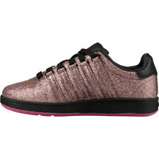 373255e2b80b K swiss Classic VN Glitter Pink Black For Girls Size 11 to 3 New In Box