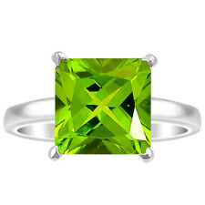 Peridot 925 Sterling Silver Ring s.8 Jewelry 3563