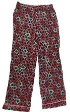 VICTORIA'S SECRET womens sleep pants SMALL pink black elastic waist cotton (C307