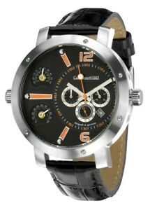 Calvaneo 1583  Bermudas Steel Black Automatic Watch CLEARANCE