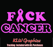 F*ck Cancer * vinyl decal sticker Family Diesel Truck Mom Car Window 1500 Ribbon