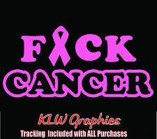 F*ck Cancer  vinyl decal sticker Mom Family Diesel Truck Car Window 1500 Ribbon
